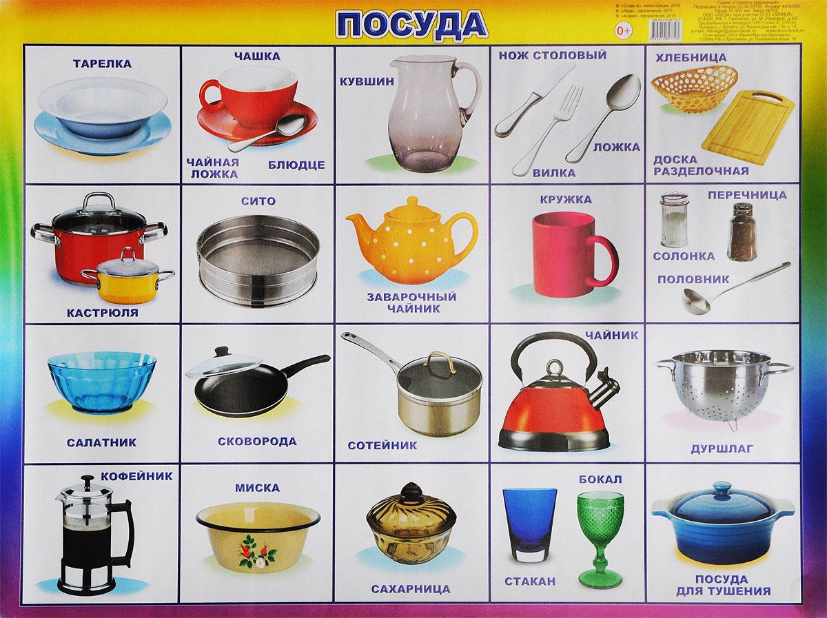 Алфея Обучающий плакат Посуда