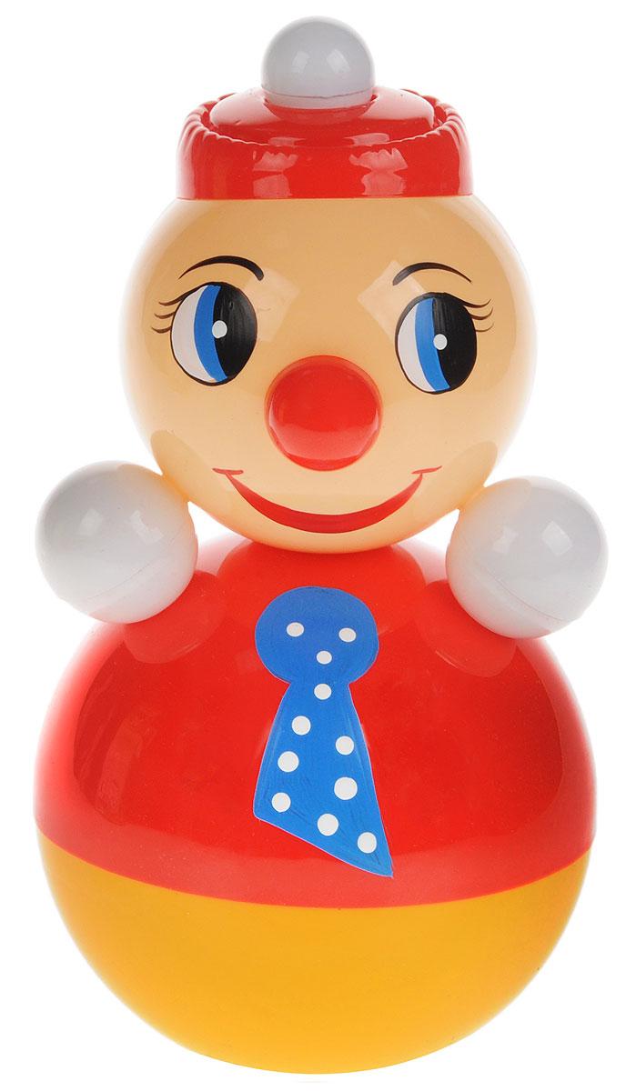 Завидов Неваляшка Клоун цвет красный6С-003_красныйНеваляшка Завидов Клоун - это развивающая игрушка для малыша. Неваляшка выполнена в виде клоуна. Клоун выглядит очень мило в своем ярком костюмчике с галстуком на шее и с ярко-красным носом. Неваляшка всегда возвращается в вертикальное положение, забавно покачиваясь под приятный звук бубенчиков и развлекая малыша. Игрушка изготовлена из качественных и безопасных материалов. Неваляшка развивает мелкую моторику, координацию, слух и цветовое восприятие.