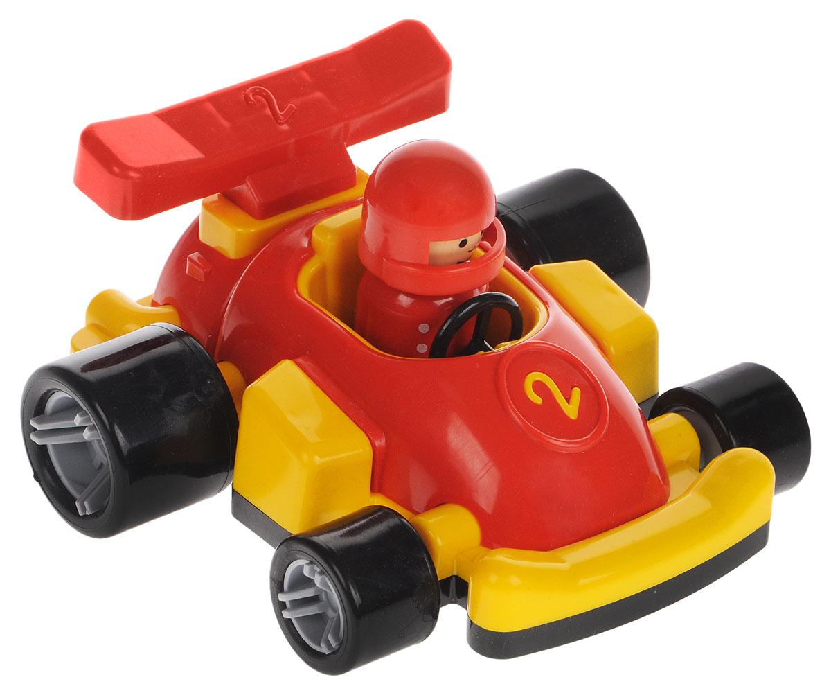Форма Гоночная машинка Молния цвет красный желтыйС-149-Ф_красный, желтыйГоночная машинка Форма Молния - это замечательная игрушка для маленьких любителей Формулы-1. В машинке сидит гонщик в шлеме, который может поворачивать голову. У игрушечного автомобиля большие задние колеса, благодаря которым гоночная машина будет быстрее стартовать на импровизированных соревнованиях в скорости. Фигурка гонщика съемная. Игрушка выполнена из безопасного материала ярких цветов.