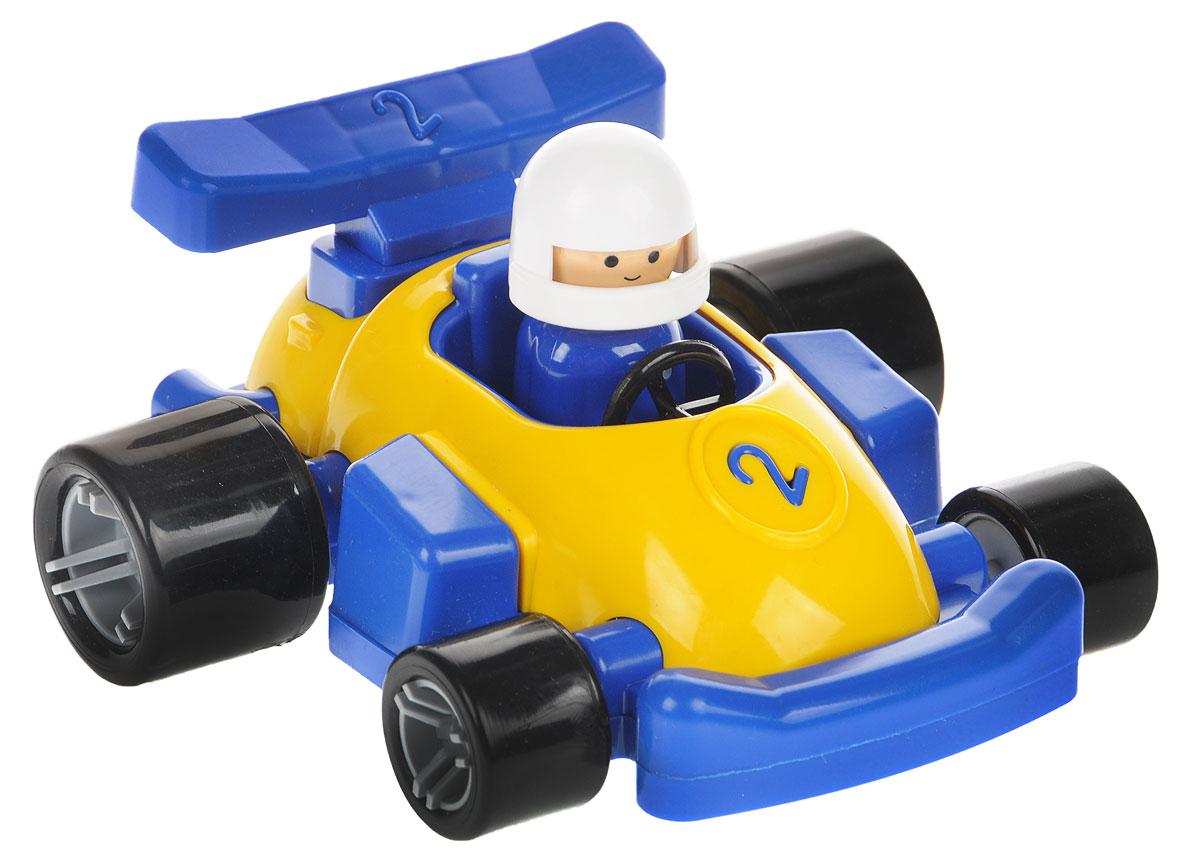 Форма Гоночная машинка Молния цвет синий желтыйС-149-Ф_синий, желтыйГоночная машинка Форма Молния - это замечательная игрушка для маленьких любителей Формулы-1. В машинке сидит гонщик в шлеме, который может поворачивать голову. У игрушечного автомобиля большие мощные колеса, благодаря которым гоночная машина будет быстрее стартовать на импровизированных соревнованиях в скорости. Фигурка гонщика съемная. Игрушка выполнена из безопасного материала ярких цветов.