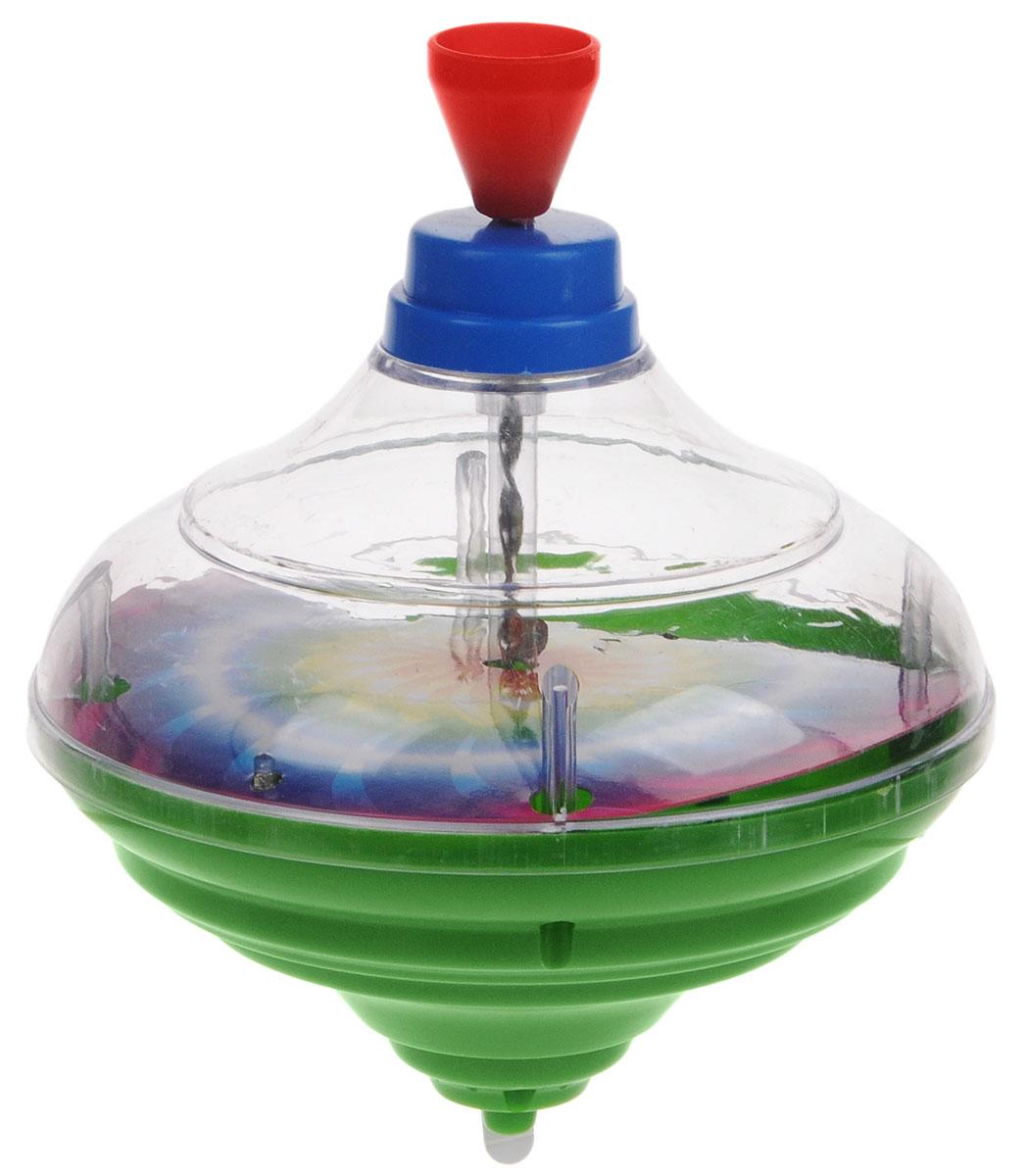 Junfa Toys Юла цвет зеленыйCQS788-7_зеленыйДетская юла - это одна из самых популярных и любимых игрушек малышей. У юлы Junfa Toys присутствуют световые и звуковые эффекты, что, несомненно, порадует вашего ребенка. Играть с юлой очень просто: нужно несколько раз поднять, а затем плавно опустить ручку юлы, и она закружится в завораживающем танце. Постепенно скорость снижается и юла останавливается. Игра с юлой поможет развить пространственное мышление, координацию движений, мелкую моторику, фантазию, наблюдательность, цветовое и звуковое восприятия. Рекомендуется докупить 3 батарейки напряжением 1,5V типа АG13/LR44 (товар комплектуется демонстрационными).