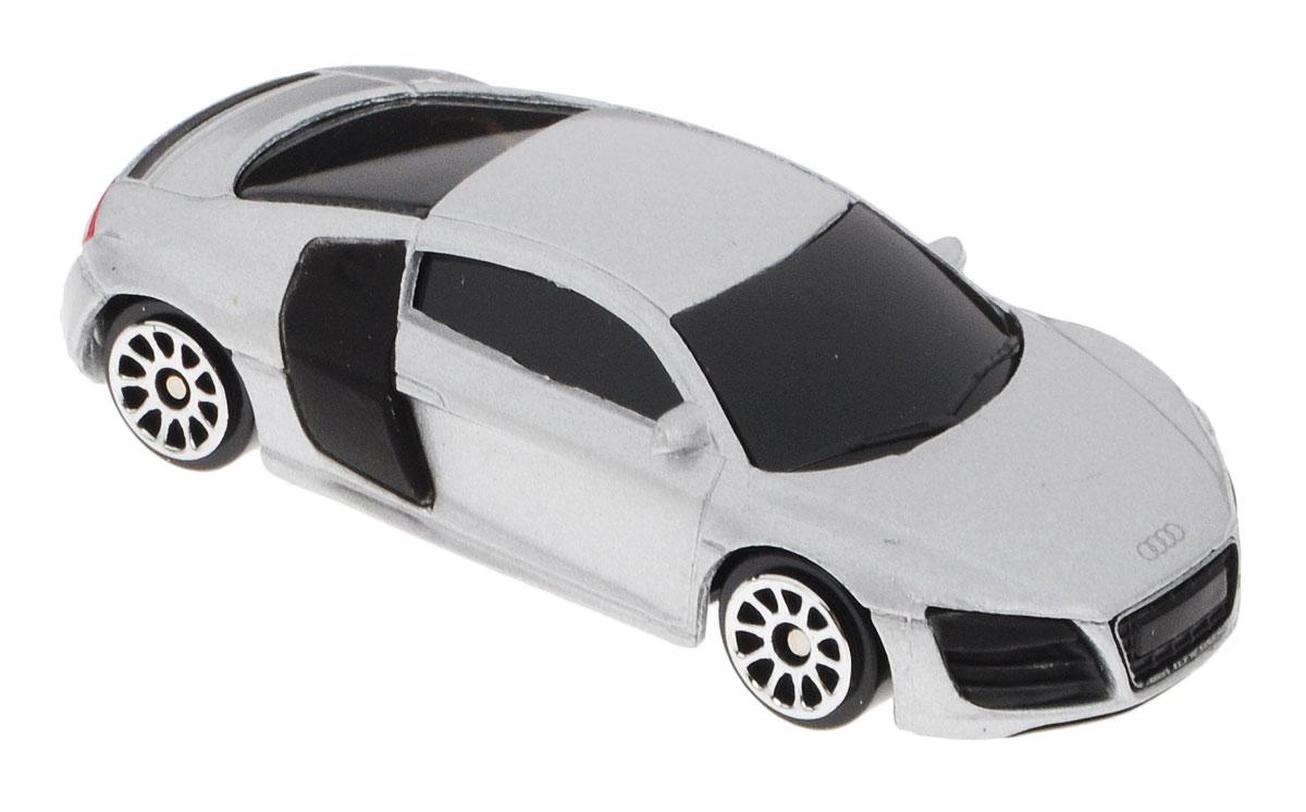 Uni-Fortune Toys Модель автомобиля Audi R8 V10 цвет серебристый344996S_серебристыйМодель автомобиля Uni-Fortune Toys Audi R8 V10 - отличный подарок как ребенку, так и взрослому коллекционеру. Благодаря броской внешности, а также великолепной точности, с которой создатели этой модели масштабом 1:64 передали внешний вид настоящего автомобиля, модель станет подлинным украшением любой коллекции авто. Машина будет долго служить своему владельцу благодаря металлическому корпусу с элементами из пластика. Колеса машинки имеют свободный ход. Модель автомобиля обязательно понравится вашему ребенку и станет достойным экспонатом любой коллекции.
