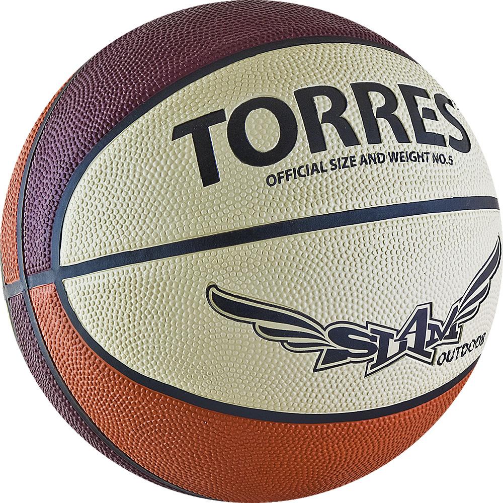 Мяч баскетбольный Torres Slam, цвет: бежевый, бордовый, оранжевый. Размер 728258972Основные характеристики Вид: баскетбольный Уровень игры: тренировочный Размер: 7 Количество панелей: 8 Тип соединения панелей: клееный Вес: 567-650гр Окружность: 74,9-78см Цвет основной: оранжевый Цвет дополнительный: бордовый, бежевый, черный Материал камеры: бутиловая Материал обмотки камеры: нейлон Материал покрышки: резина Подходит для игры на улице и в зале Страна-производитель: Китай Упаковка: пакет (поставляется в сдутом виде) Поверхность из износостойкой резины с глубокими каналами позволяет эксплуатировать мяч для игры на любых типах поверхностей, в том числе и на жестких Размер 7 для мужчин и для юниоров старше 15 лет.