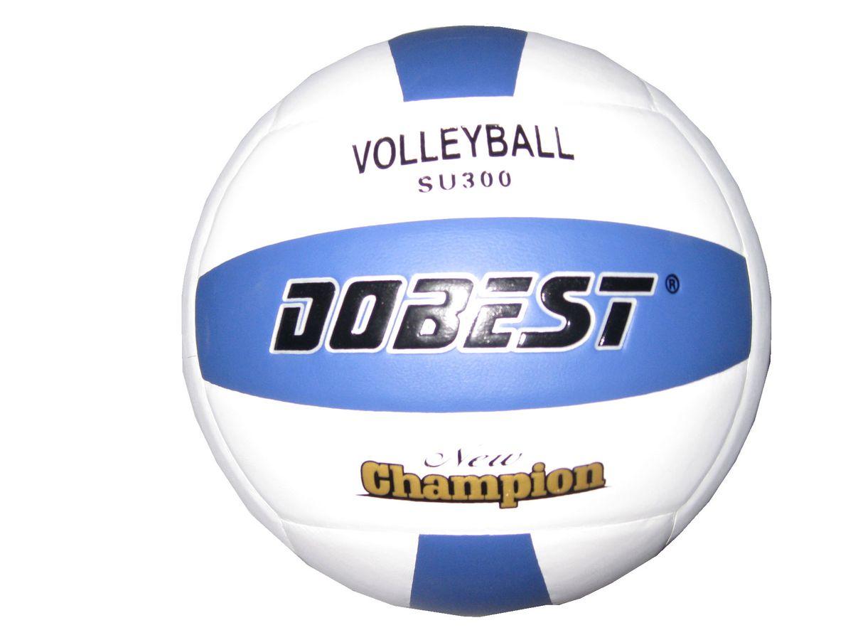 Мяч волейбольный Dobest SU300. Размер 528262372Основные характеристики Вид: волейбольный Уровень игры: любительский Размер: 5 Количество панелей: 18 Количество слоев: 4 Вес: 260-280гр Тип соединения панелей: клееный Материал камеры: резина Материал: синтетическая кожа Цвет основной: белый Цвет дополнительный: синий Подходит для игры на улице и в зале Страна-производитель: Китай Упаковка: пакет (поставляется в сдутом виде)