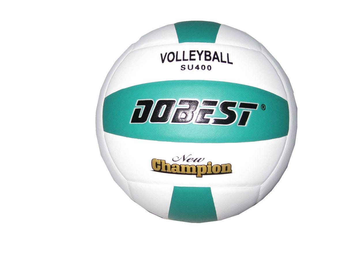 Мяч волейбольный Dobest SU400. Размер 528262373Основные характеристики Вид: волейбольный Уровень игры: любительский Размер: 5 Количество панелей: 18 Количество слоев: 4 Вес: 260-280гр Тип соединения панелей: клееный Материал камеры: резина Материал: синтетическая кожа Цвет основной: белый Цвет дополнительный: зеленый Подходит для игры на улице и в зале Страна-производитель: Китай Упаковка: пакет (поставляется в сдутом виде)