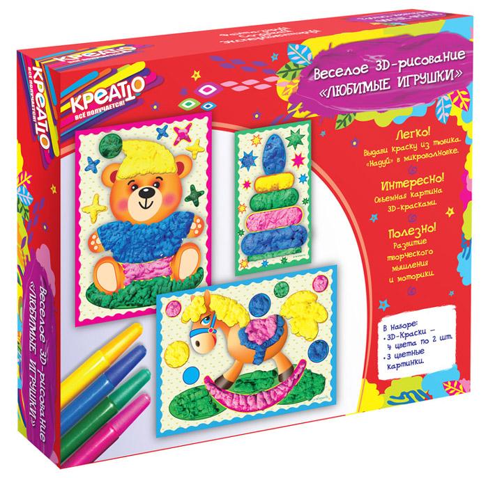 Креатто Набор для рисования Веселое рисование Любимые игрушки