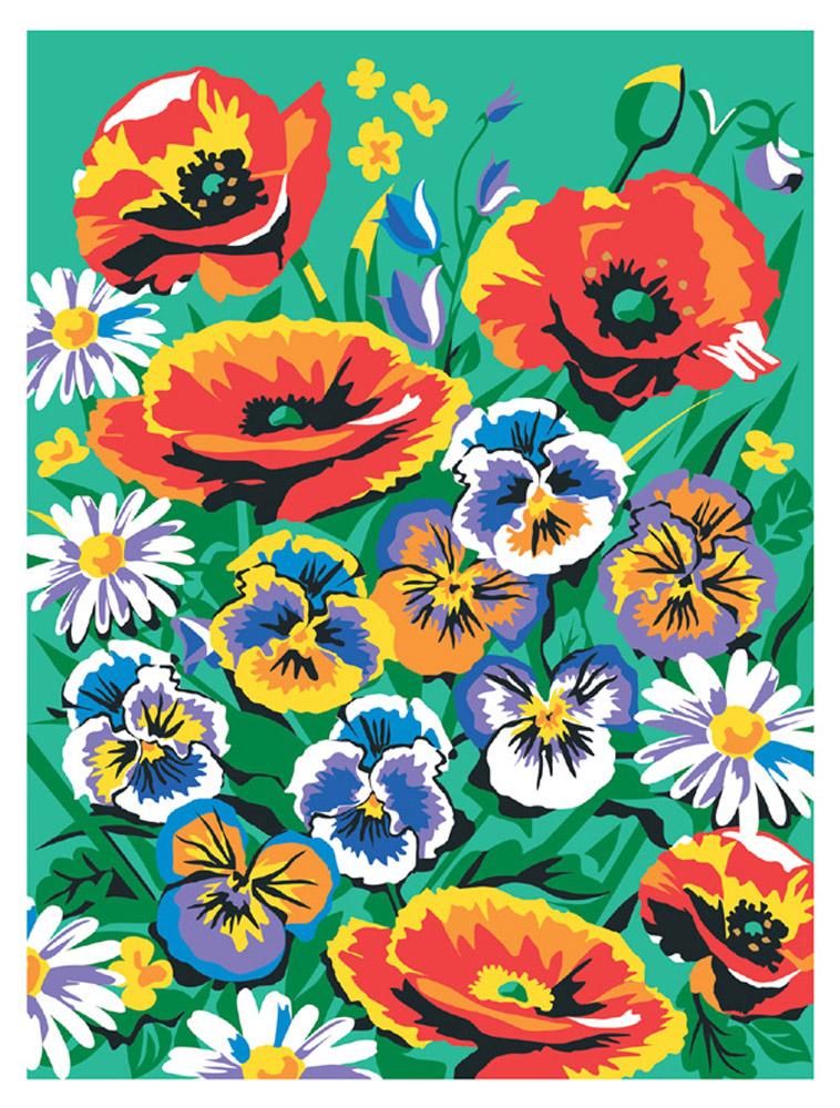 Креатто Набор для росписи холста по номерам Цветы