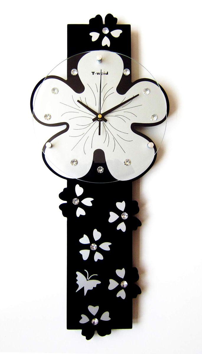 Часы настенные T-Weid, цвет: черный, 25 х 59 х 5 смM 3101A BlackНастенные кварцевые часы - это прекрасный предмет декора, а также универсальный подарок практически по любому поводу. Корпус часов, выполнен из дерева с черным матовым покрытием. Циферблат часов оснащен тремя фигурными стрелками: часовой, минутной и секундной. Часы украшены стразами. Циферблат и стрелки защищены прочным стеклом, который крепится четырьмя металлическими крепежами к корпусу. На задней стенке часов расположена металлическая петелька для подвешивания и блок с часовым механизмом. Часы прекрасно впишутся в любой интерьер. Тип механизма: плавающий, бесшумный. Рекомендуется докупить батарейку типа АА (не входит в комплект).