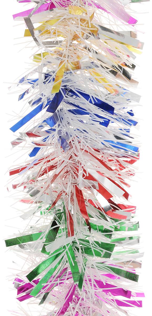 Мишура новогодняя Magic Time, цвет: белый, розовый, синий, диаметр 9 см, длина 2 м. 4213142131Мишура новогодняя Magic Time, выполненная из ПЭТ (полиэтилентерефталата), поможет вам украсить свой дом к предстоящим праздникам. Мишура армирована, то есть имеет проволоку внутри и способна сохранять форму. Новогодняя елка с таким украшением станет еще наряднее. Новогодней мишурой можно украсить все, что угодно - елку, квартиру, дачу, офис - как внутри, так и снаружи. Можно сложить новогодние поздравления, буквы и цифры, мишурой можно украсить и дополнить гирлянды, можно выделить дверные колонны, оплести дверные проемы.