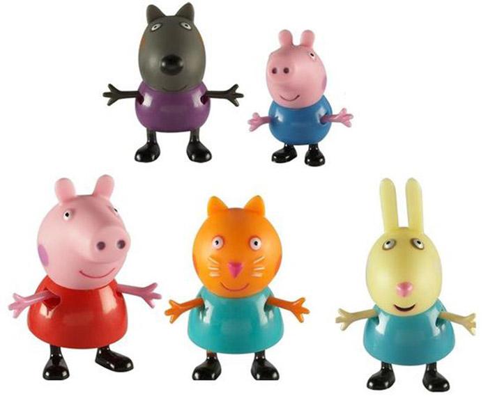 Peppa Pig Набор фигурок Пеппа и друзья30704Набор фигурок Peppa Pig Пеппа и друзья непременно понравится вашему ребенку и займет его внимание надолго. Набор включает пять фигурок: Свинка Пеппа, Малыш Джордж, Щенок Денни, Котенок Кенди, Кролик Ребекка. Ручки и ножки фигурок двигаются. Ваш ребенок будет с удовольствием играть с ними, придумывая различные истории и составляя собственные сюжеты. Пеппа - главная героиня, старшая дочь в семействе. Как и каждый ребенок, она очень сильно обожает скакать по лужицам. Малыш Джордж - братик Пеппы, младший ребенок в семье. Он самостоятельно ходит, разговаривает, но может произнести только отдельные фразы. Пёс Дэнни - храбрый и верный друг главной героини мультика. Киска Кэнди - очень скромная, стеснительная и нереально добродушная подружка Пеппы. Крольчёнок Реббека - веселая и взбалмошная подружка свинки Пеппы. Герои мультфильма наделены частично качествами людей, частично качествами животных. Они ходят в одежде, живут в домах, ездят на машинах, ходят...