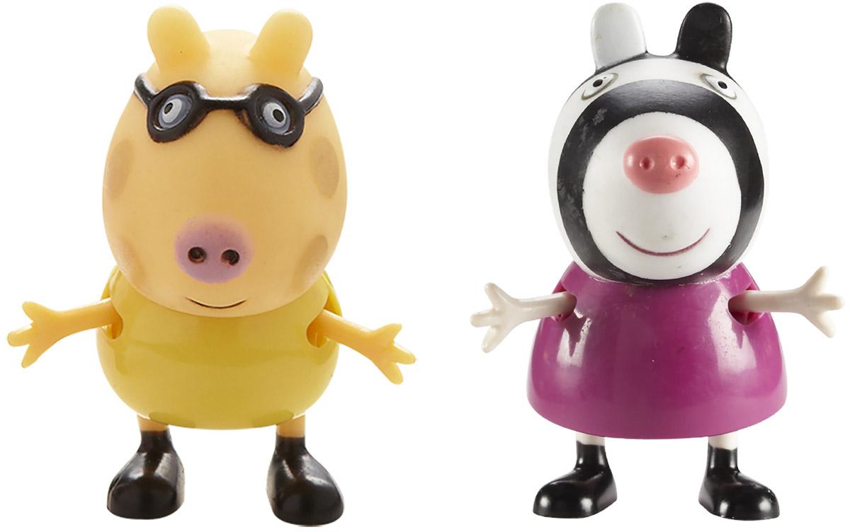 Peppa Pig Набор фигурок Педро и Зои30763Набор фигурок Peppa Pig Педро и Зои непременно понравится вашему ребенку и займет его внимание надолго. Набор включает две фигурки: Педро и Зои. Ручки и ножки фигурок двигаются. Ваш ребенок будет с удовольствием играть с ними, придумывая различные истории и составляя собственные сюжеты. Пони Педро - очень хороший товарищ Пеппы. У него плохое зрение, и именно поэтому, он постоянно в очках. Зебра Зоя - Очень добрая, милая и отзывчивая. Является одной из самых честных и лучших подружек Пеппы. На неё всегда можно положиться. Герои мультфильма наделены частично качествами людей, частично качествами животных. Они ходят в одежде, живут в домах, ездят на машинах, ходят на работу и в театр. Дети отмечают дни рождения, играют в парках, катаются на катках и занимаются всем, что присуще людям. В то же время свинки постоянно хрюкают, овечки блеют, а кошки мяукают. Набор фигурок Peppa Pig Педро и Зои станет отличным подарком поклонникам мультфильма!