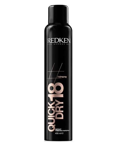 Redken Hairsprays Quick Dry 18 Сухой спрей мгновенной фиксации для завершения укладки, 400 млE1633600Спрей обеспечивает стойкую фиксацию даже самой сложной прически. Он великолепно сохнет и не придает ощущения тяжелых, склеенных волос. Его уникальные компоненты наполняют волосы блеском и здоровьем. Действие Антифриз, которым обладает уникальный спрей, предотвращает электризацию волос.