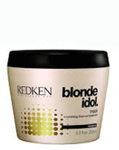 Redken Blonde Idol Маска для питания и смягчения светлых волос, 250 млP0898600Маска проникает глубоко в структуру волоса, увлажняя его и закрепляя пористые участки, восстанавливает волосы.
