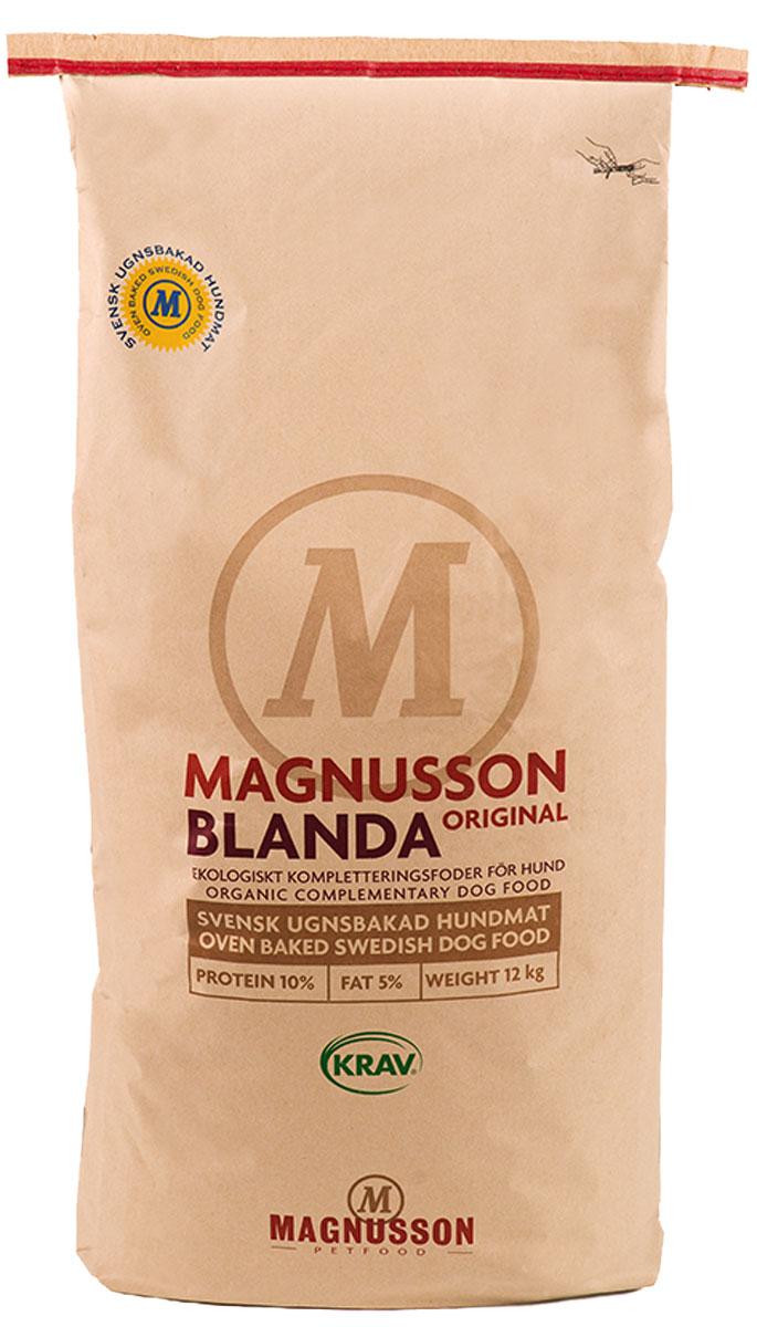 Добавка Magnusson Original Blanda, для взрослых собак с нормальным уровнем активности, 12 кгF151200Для владельцев, предпочитающих натуральное кормление Бланда может заменить кашу и сэкономить время – залейте Бланда теплой водой, добавьте мясо и овощи (витамины), перемешайте через 10 минут. Выберите мясо самостоятельно, а в качестве основы используйте Бланда. При непереносимости белков Бланда является самым простым решением для полноценного кормления собаки на протяжении жизни. Вы можете добавить в Бланда овощи (витамины) и специальные диетические паштеты, либо использовать Бланда в чистом виде. Качественный источник углеводов, без химии и добавок, поможет сохранить здоровье собаки всю жизнь! При строгой диете по показаниям ветеринара, в постоперационный период, либо при остром отравлении, Бланда может служить основой кормления. Используйте низкобелковые продукты (продукты на основе изолированных белков) вместе с Бланда, либо Бланда в чистом виде. Вы можете добавить овощи (витамины) по желанию. Бланда не содержит белок животного происхождения и может использоваться в качестве...