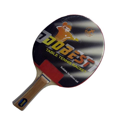 Ракетка для настольного тенниса Dobest 0 звезд28255705Универсальна ракетка Dobest 0 звезд предназначена для игры в настольный теннис. Прекрасно подойдет любителям и начинающим игрокам. Ракетка изготовлена из прочных качественных материалов, удобно лежит в руке и гарантирует хорошее чувство мяча и наиболее комфортную игру. Рукоятка имеет удобную форму. Ракетка выполнена из дерева, накладка из резины. Толщина резины: 1 мм. Толщина губки: 1,5 мм. Размер ракетки: 26 х 15 х 2,2 см.