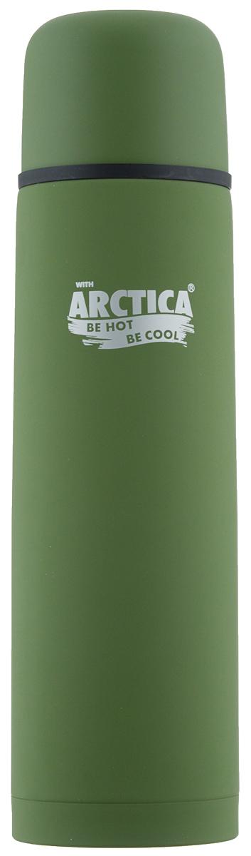 Термос Арктика, цвет: зеленый, 1 л. 103-1000103-1000 зелёныйКлассический термос Арктика с резиновым шелковым покрытием сохранит температуру напитков. Термос выполнен из нержавеющей стали с использованием пищевого пластика с отделкой эффект шелка. Ударопрочный корпус состоит из двух колб, выполненных из нержавеющей стали с вакуумом между ними. Термос оснащен удобной пробкой с каналами для наливания воды в полуоткрытом положении. Стильный функциональный термос будет незаменим в дороге, на пикнике. Его можно взять с собой куда угодно, и вы всегда сможете наслаждаться горячим домашним напитком. Диаметр горлышка: 5,2 см. Диаметр основания: 8,4 см. Высота (с учетом крышки): 30,5 см. Время сохранения температуры (холодной и горячей): 26 часов.