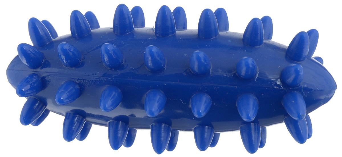 Игрушка для собак V.I.Pet Массажный мяч. Регби, цвет: синий, 7,5 х 3,5 см09001/9001Игрушка для собак V.I.Pet Массажный мяч. Регби, изготовленная из ПВХ, предназначена для массажа и самомассажа рефлексогенных зон. Она имеет мягкие закругленные массажные шипы, эффективно массирующие и не травмирующие кожу. Игрушка не позволит скучать вашему питомцу ни дома, ни на улице.
