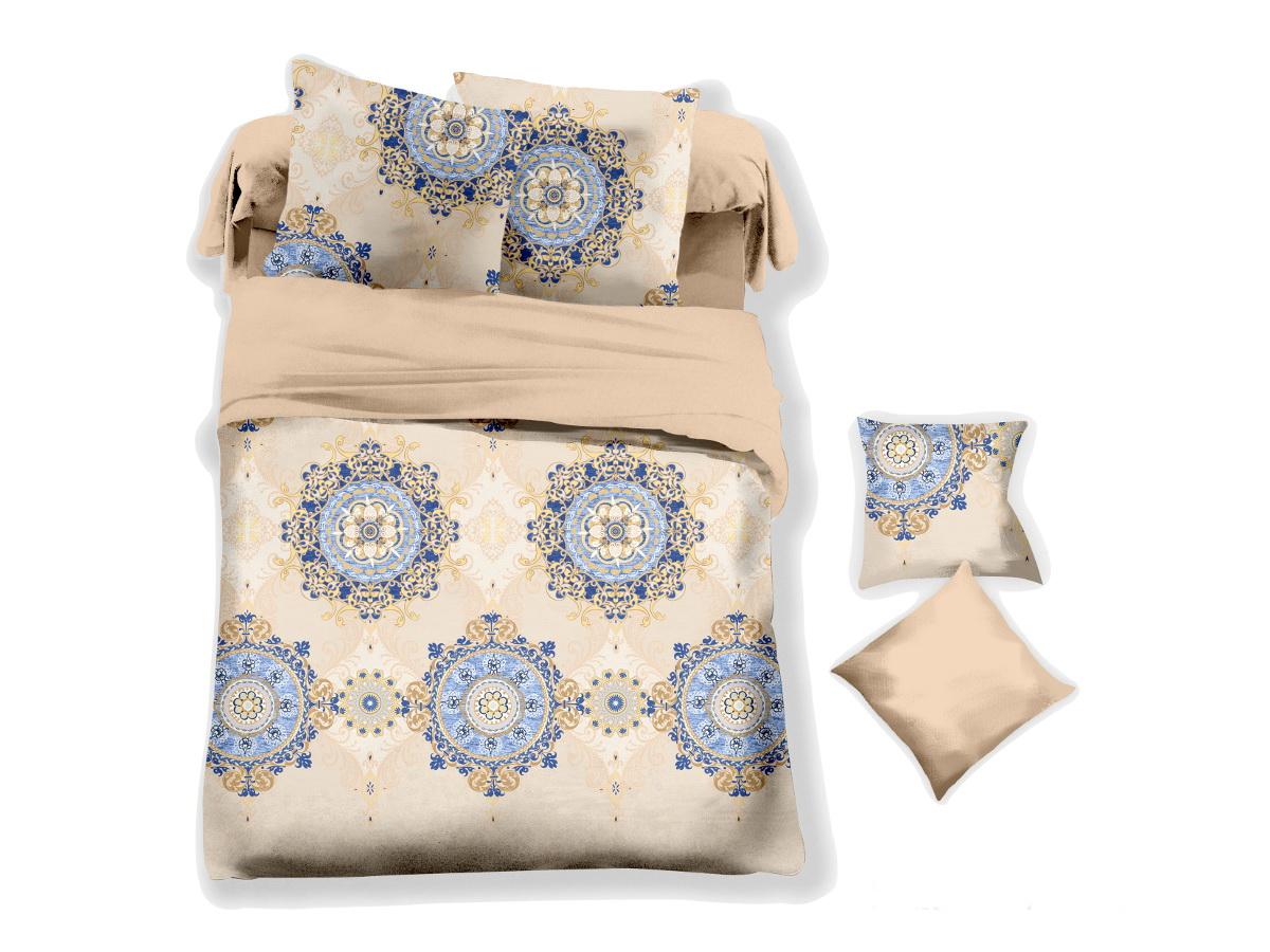 Комплект белья Cleo Гобеленовый узор, 2-спальный, наволочки 70х7020/042-PLКоллекция постельного белья из микросатина CLEO – совершенство экономии, но не на качестве! Благодаря новейшим технологиям микросатин – это прочность, легкость, простота в уходе, всегда яркие цвета после стирки. Микро-сатин набирает все большую популярность, благодаря своим уникальным характеристикам. Окраска материала - стойкая, цветовая палитра - яркая, насыщенная. Микро-сатин хорошо впитывает влагу, а после стирки быстро сохнет, становясь шелковистым на ощупь, мягким и воздушным. Комплект состоит из пододеяльника, двух наволочек и простыни.