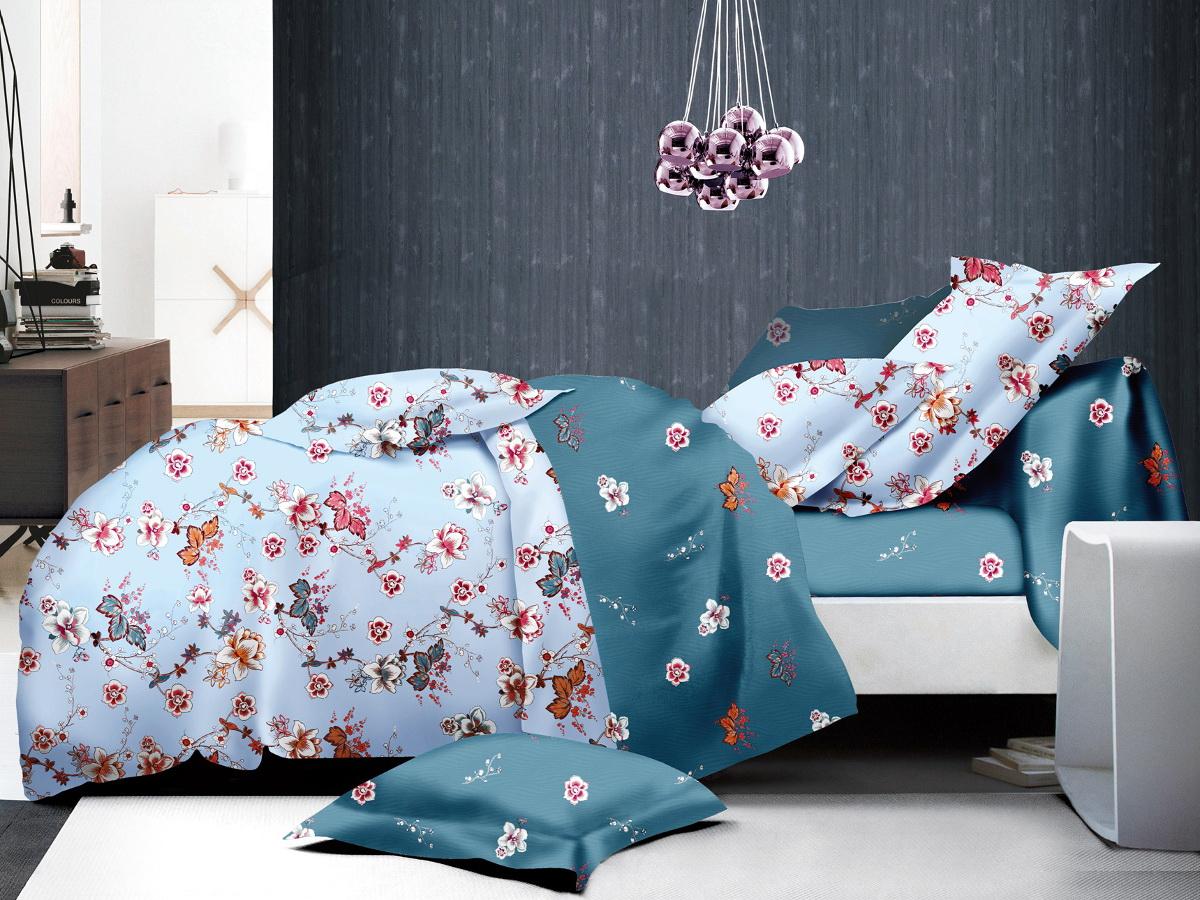 Комплект белья Cleo Цветущая бирюза, 2-спальный, наволочки 70х7020/014-PLКоллекция постельного белья из микросатина CLEO – совершенство экономии, но не на качестве! Благодаря новейшим технологиям микросатин – это прочность, легкость, простота в уходе, всегда яркие цвета после стирки. Микро-сатин набирает все большую популярность, благодаря своим уникальным характеристикам. Окраска материала - стойкая, цветовая палитра - яркая, насыщенная. Микро-сатин хорошо впитывает влагу, а после стирки быстро сохнет, становясь шелковистым на ощупь, мягким и воздушным. Комплект состоит из пододеяльника, двух наволочек и простыни.