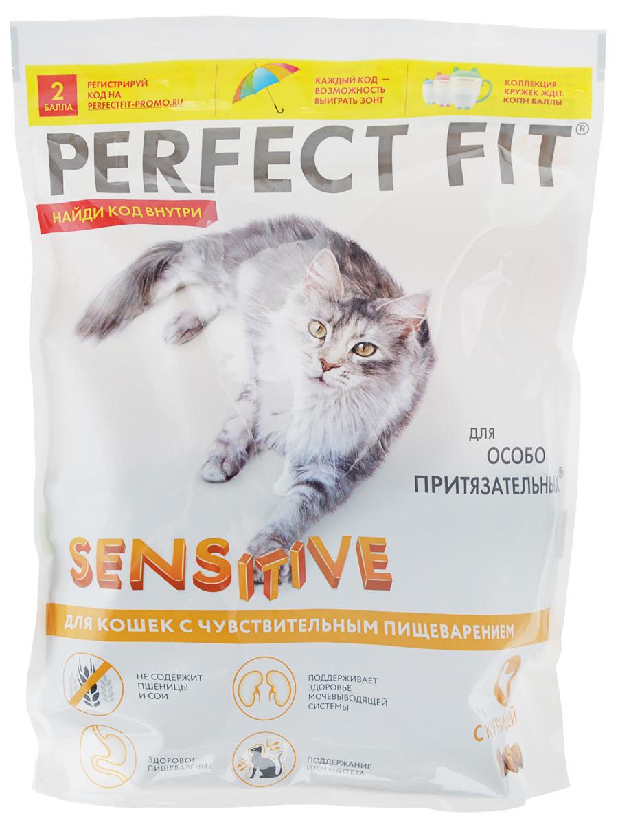 Корм сухой Perfect Fit, для чувствительных кошек, с курицей, 650 г41036Сухой корм Perfect Fit - высококачественное сухое питание, специально приготовленное, чтобы поддержать здоровье вашего питомца. Корм не содержит пшеницы и сои, которые могут быть причиной возникновения аллергии и кишечных расстройств. Содержит пребиотики, способствующие поддержанию здоровой микрофлоры кишечника, витамин Е и цинк, помогающие поддержанию иммунной системы. Поддерживает здоровье мочевыводящей системы. Товар сертифицирован.