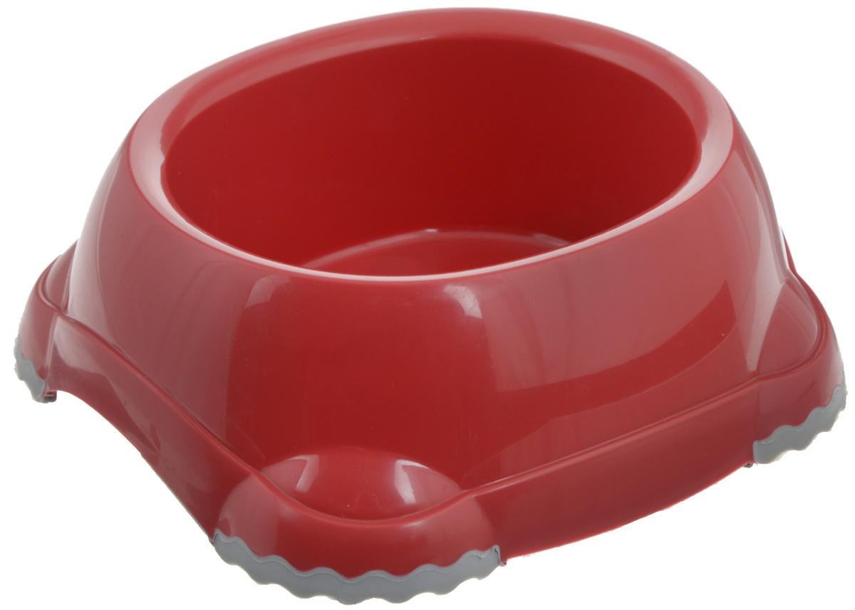Миска для животных Moderna Smarty bowl, с антискольжением, цвет: бордовый, 12 х 10 х 5 см14H101202Миска для животных Moderna Smarty bowl изготовлена из высококачественного пластика и предназначена для корма и воды. Она порадует удобством использования как самих животных, так и их хозяев. Яркий дизайн придаст изделию индивидуальность и удовлетворит вкус самых взыскательных зоовладельцев. Ножки миски снабжены противоскользящей вставкой, благодаря которой она устойчива на любой поверхности. Размер миски: 12 х 10 см. Высота миски: 5 см.