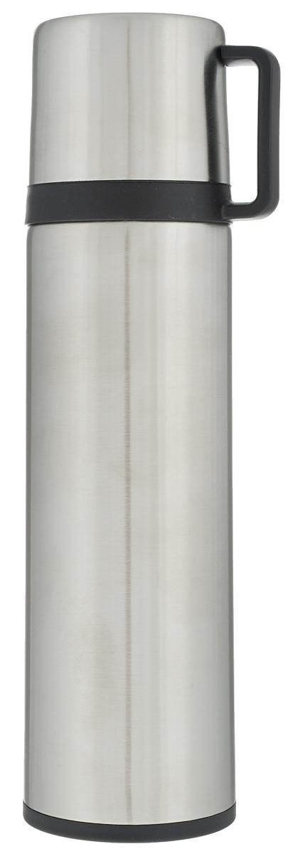 Термос Tescoma Constant, с крышкой-кружкой, цвет: серебристый, 0,5 л318522Термос Tescoma Constant - это вакуумный термос с двойной колбой из высококачественной нержавеющей стали. Термос сохраняет напитки горячими и холодными на протяжении длительного времени. Оснащен крышкой и пробкой с кнопкой для удобного розлива без снижения температуры. Термос Tescoma Constant прекрасно подходит для дома, офиса и для путешествий. Сохранение температуры в термосе зависит от количества и температуры напитка, от частоты его открывания и от температуры воздуха. Диаметр термоса по верхнему краю: 4,5 см. Диаметр дна: 7 см. Высота термоса с учетом крышки: 25,7 см.