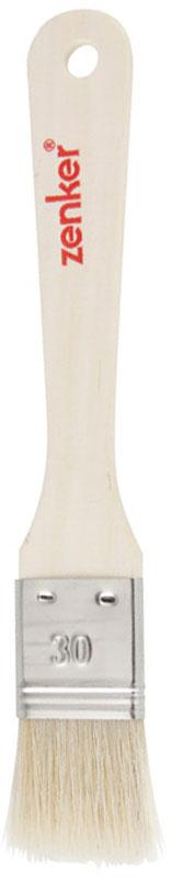 Кисть кулинарная Zenker, длина 19 см42896Кулинарная кисть Zenker выполнена из натуральной щетины. Удобная деревянная ручка оснащена небольшим отверстием, за которое кисть можно подвесить в любом удобном для вас месте. С помощью кулинарной кисти вы без труда сможете смазать выпечку яйцом или глазурью, смазать сковородку маслом при выпечке блинов и оладий. Практичная и удобная кисть Zenker займет достойное место среди аксессуаров на вашей кухне. Длина щетины: 3,3 см.