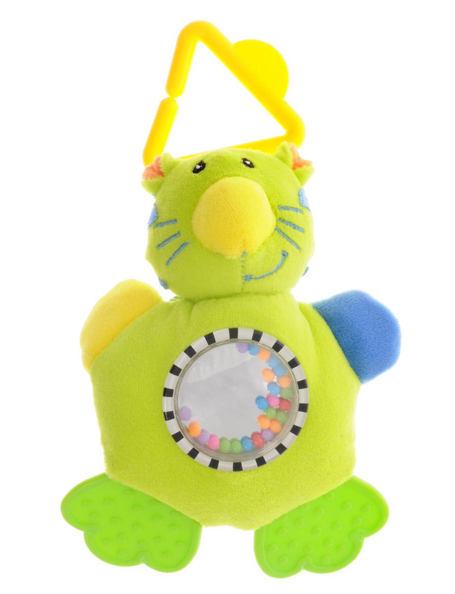 Mara Baby Игрушка-подвеска Жаркие страны Лев цвет салатовыйB-9030_лев, салатовыйИгрушка-подвеска Mara Baby Жаркие страны. Лев выполнена из безопасных для ребенка материалов в виде милого львенка. Ножки игрушки представлены в виде двух прорезывателей для зубов, а ручки содержат шуршащий элемент. В животике игрушки находятся безопасное зеркальце и маленькие разноцветные шарики, которые весело гремят при встряхивании. С помощью пластикового незамкнутого треугольника игрушку можно подвесить к кроватке, коляске, автокреслу или игровой дуге малыша. Игрушка-подвеска поможет ребенку в развитии цветового и звукового восприятия, концентрации внимания, мелкой моторики рук, координации движений и тактильных ощущений.