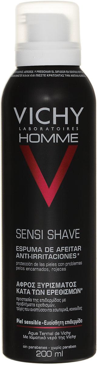 Vichy Пена для бритья для чувствительной кожи Vichy Homme , склонной к покраснению, 200 мл vichy тональный флюид teint ideal тон 25 30 мл