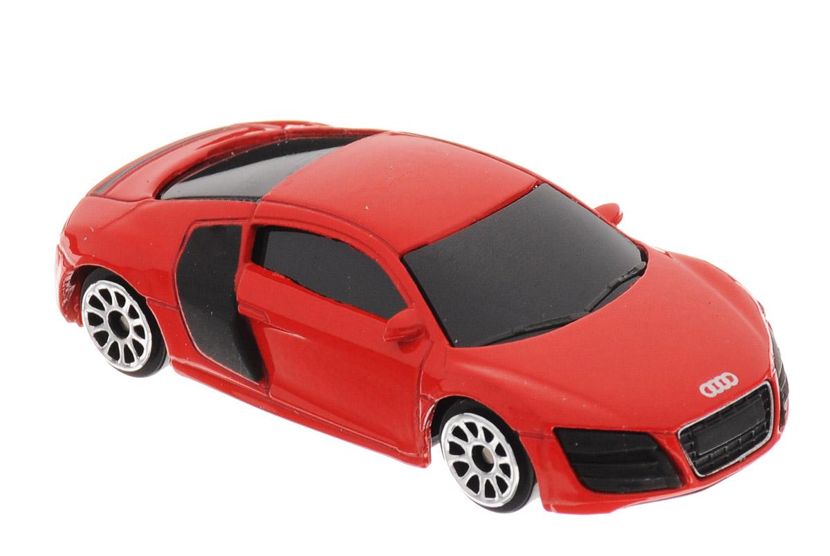 Uni-Fortune Toys Модель автомобиля Audi R8 V10 цвет красный344996SМодель автомобиля Uni-Fortune Toys Audi R8 V10 - отличный подарок как ребенку, так и взрослому коллекционеру. Благодаря броской внешности, а также великолепной точности, с которой создатели этой модели масштабом 1:64 передали внешний вид настоящего автомобиля, модель станет подлинным украшением любой коллекции авто. Машина будет долго служить своему владельцу благодаря металлическому корпусу с элементами из пластика. Колеса машинки имеют свободный ход. Модель автомобиля обязательно понравится вашему ребенку и станет достойным экспонатом любой коллекции.