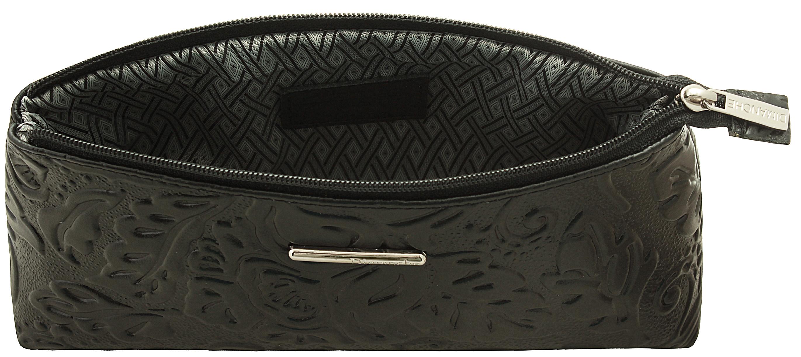 Косметичка женская Dimanche, цвет: черный. 356356В косметичке одно большое отделение, закрывающееся на молнию, на ножках.
