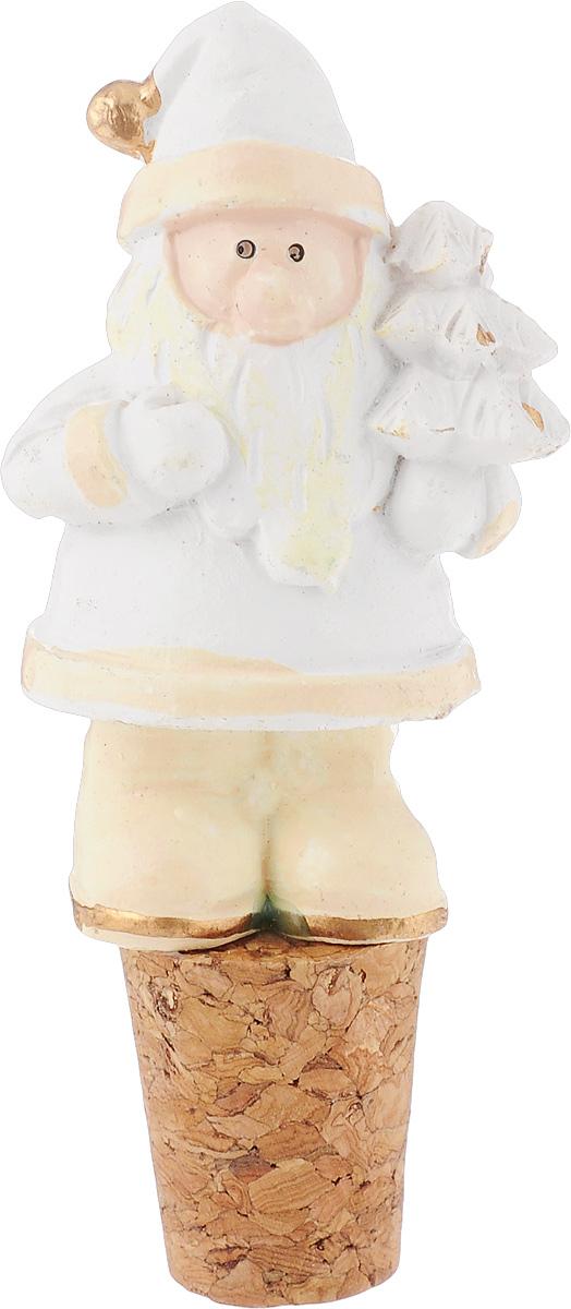 Пробка для бутылки новогодняя Magic Time Белый Дед Мороз, 3,5 х 2,5 х 8 см39158Пробка для бутылки Magic Time Белый Дед Мороз, выполненная из полирезина в виде снеговика, предназначена для открытых бутылок в целях предотвращения окисления и порчи напитков. Дизайн такой пробки отлично подойдет для использования на праздники, особенно в Новый год. Новогодние украшения всегда несут в себе волшебство и красоту праздника. Создайте в своем доме атмосферу тепла, веселья и радости, украшая его всей семьей.