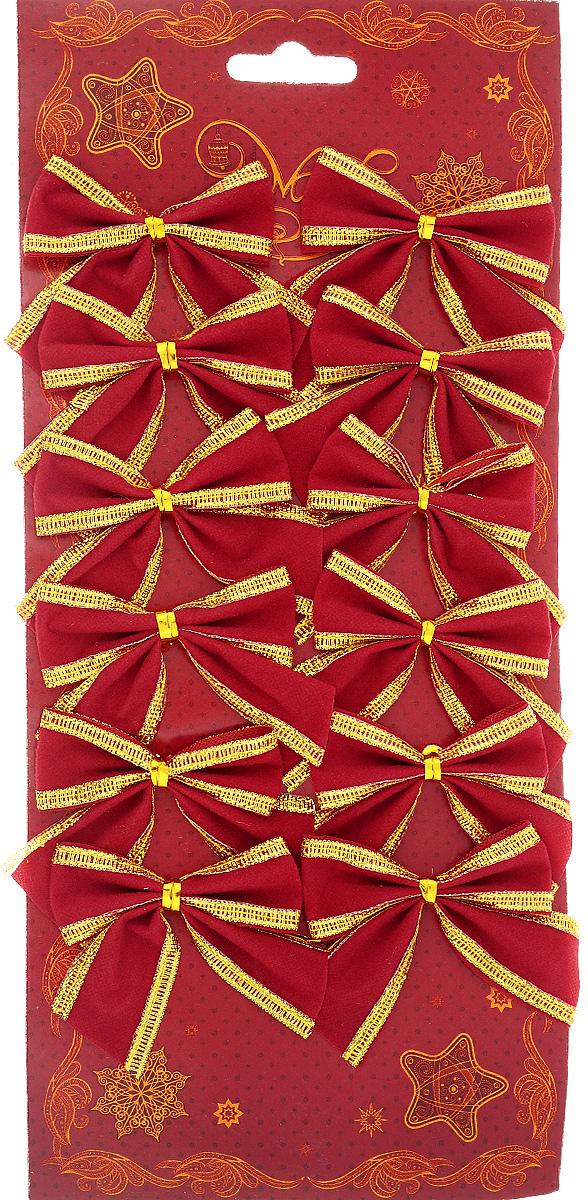 Украшение новогоднее Magic Time Бант с тесьмой, цвет: красный, золотой, 6 х 5 см42767Новогоднее украшение Феникс-Презент Бант с тесьмой отлично подойдет для декорирования вашего дома и новогодней ели. Игрушка выполнена из полиэстера в виде бантика. Украшение можно привязать к ели. Елочная игрушка - символ Нового года. Она несет в себе волшебство и красоту праздника. Создайте в своем доме атмосферу веселья и радости, украшая всей семьей новогоднюю елку нарядными игрушками, которые будут из года в год накапливать теплоту воспоминаний.