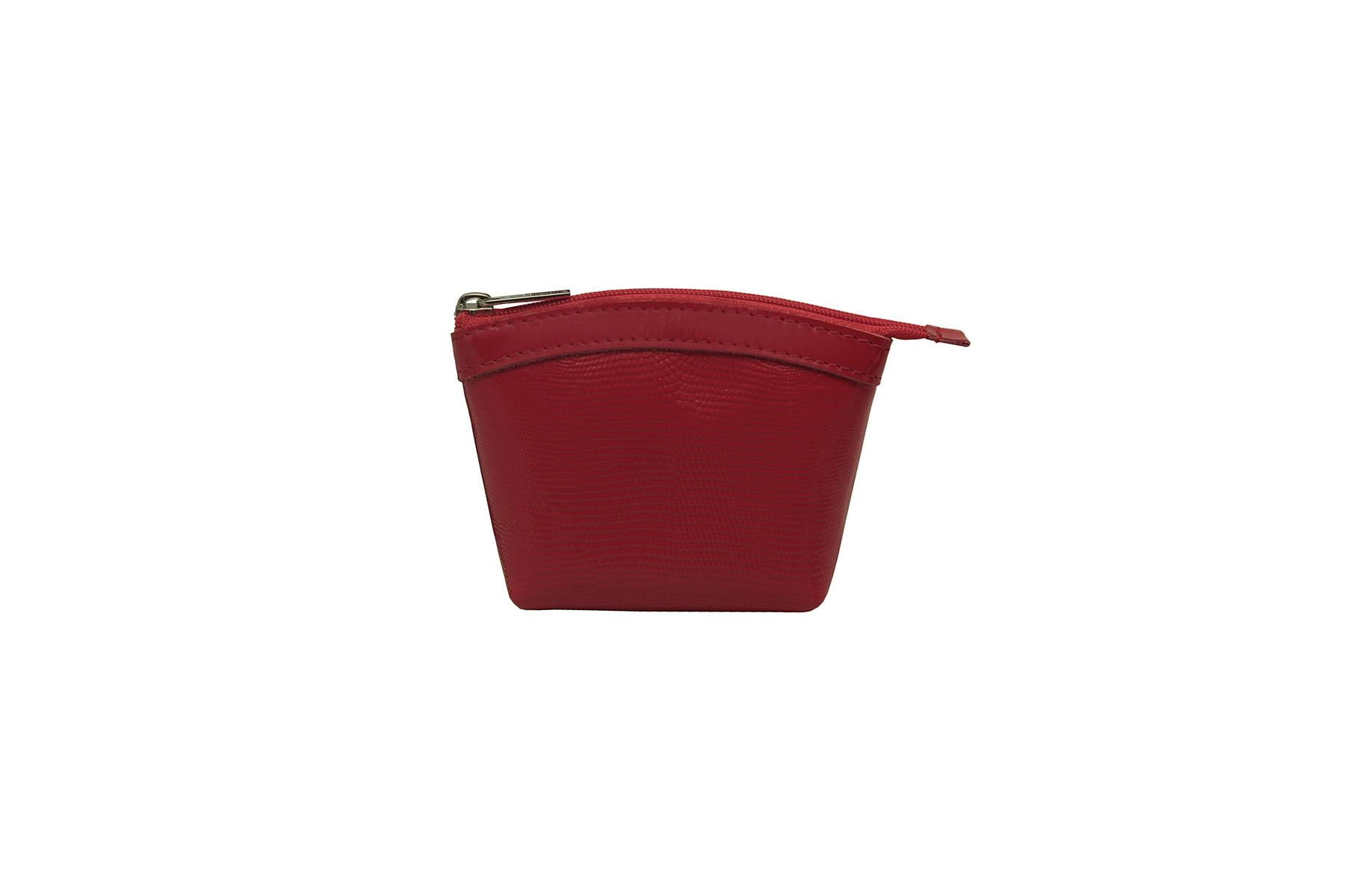 Кошелек женский Dimanche, цвет: красный. 258/13258/13Кошелек Dimanche выполнен из натуральной кожи с тиснением под рептилию и закрывается на застежку-молнию. Внутри расположено одно отделение для денег. Изделие упаковано в фирменную коробку.