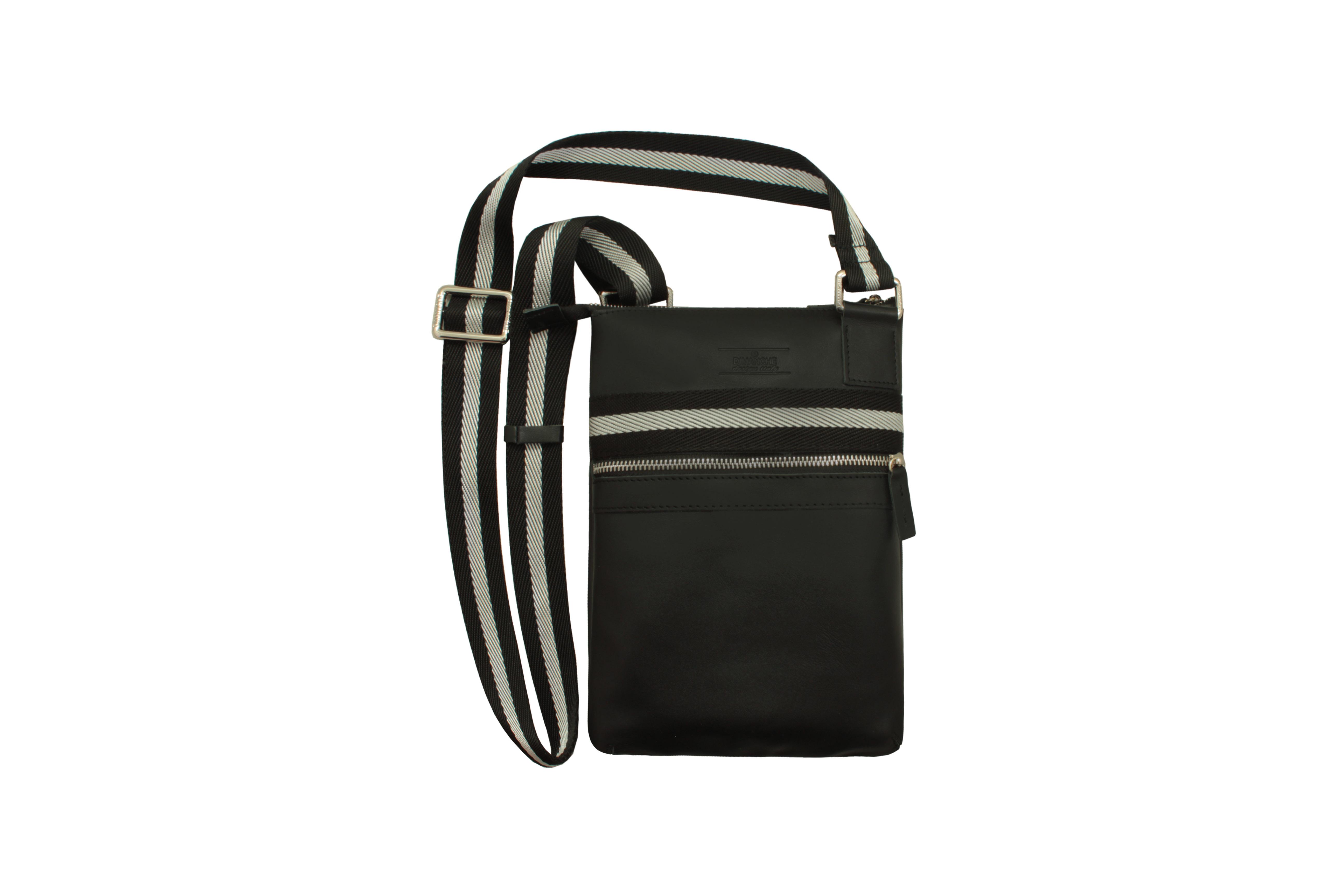 Сумка Dimanche, цвет: черный. 811/1_П811/1_ПСтильная удобная сумка-планшет. Одно отделение на молнии, внутри два кармана (один на молнии, второй открытый). На лицевой стороне есть карман на молнии. Текстильный ремень регулируется по длине.