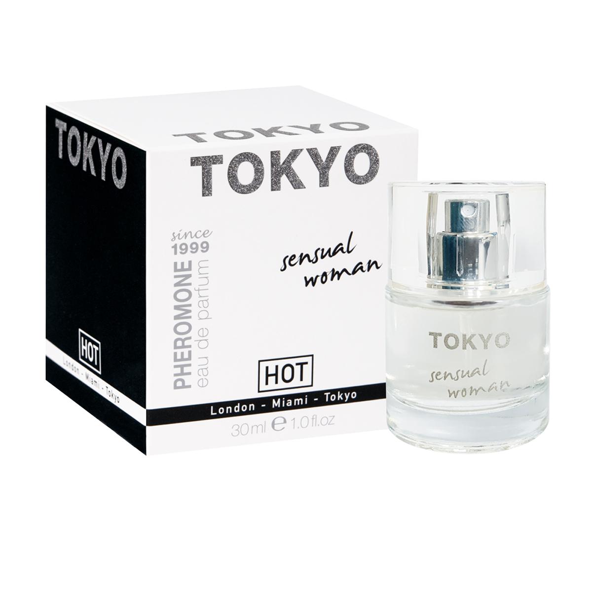 Hot Женские духи с феромонами Tokyo sensual 30 мл55113Базовые ноты креативного и динамичного Токио - опопонакс и ветивер. Свежесть и легкость этого нон-стоп города дадут ощутить апельсин, мандарин и мимоза.