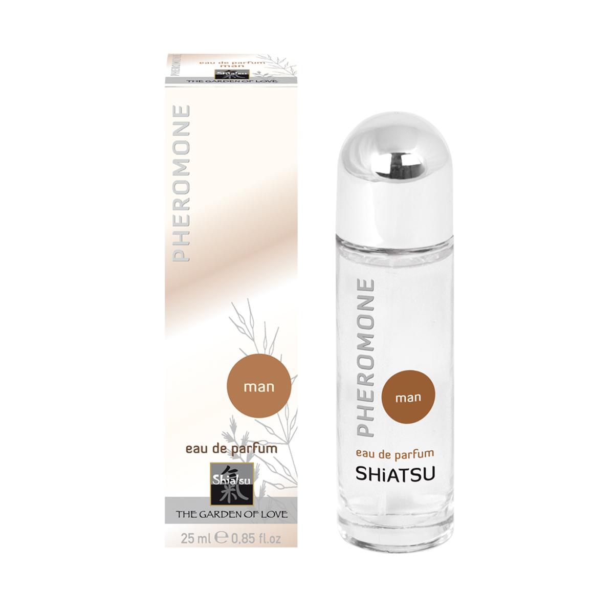 Shiatsu Мужские духи с феромонами Shiatsu 25 мл66101Высококачественный парфюм, обогащенный феромонами. Стильный мужской аромат поразит всех женщин.