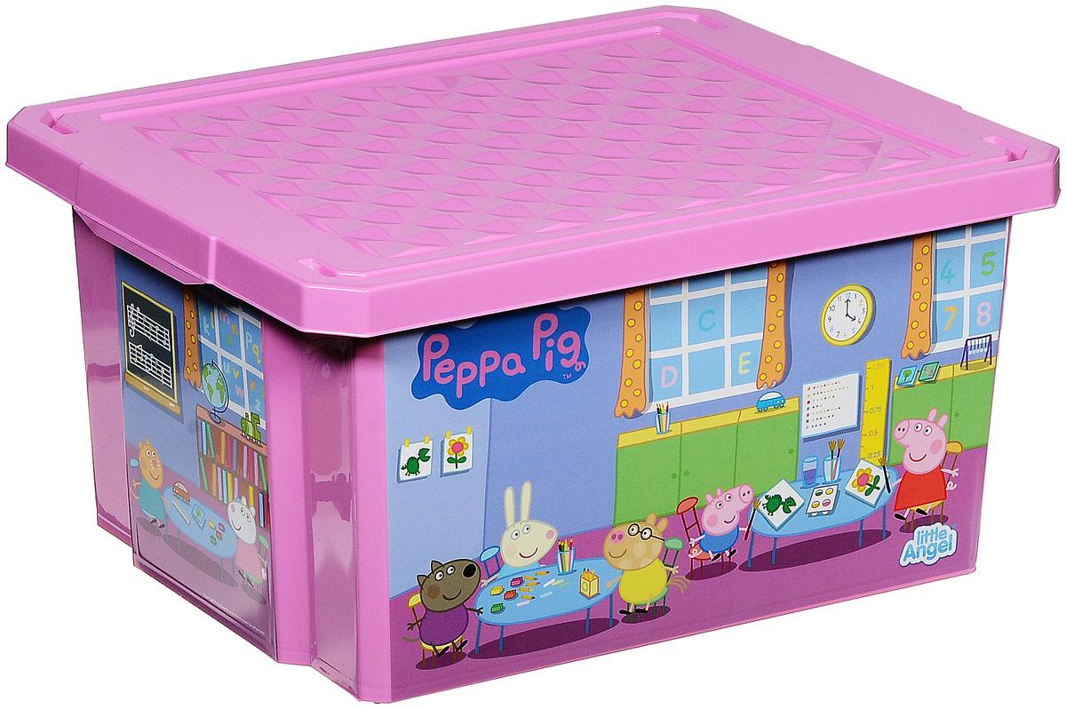 Little Angel Ящик для игрушек X-Box Свинка Пеппа 17 лLA0023PPPЗДетский ящик для игрушек Little Angel X-Box Свинка Пеппа выполнен из прочного материала и украшен рисунками из любимого мультфильма о Свинке. В нем можно удобно и компактно хранить белье, одежду, обувь или игрушки. Ящик оснащен плотно закрывающейся крышкой, которая защищает вещи от пыли, грязи и влаги. Такой ящик непременно привлечет внимание ребенка и станет незаменимым для хранения игрушек, книжек и других детских принадлежностей. Он отлично впишется в детскую комнату и поможет приучить ребенка к порядку.
