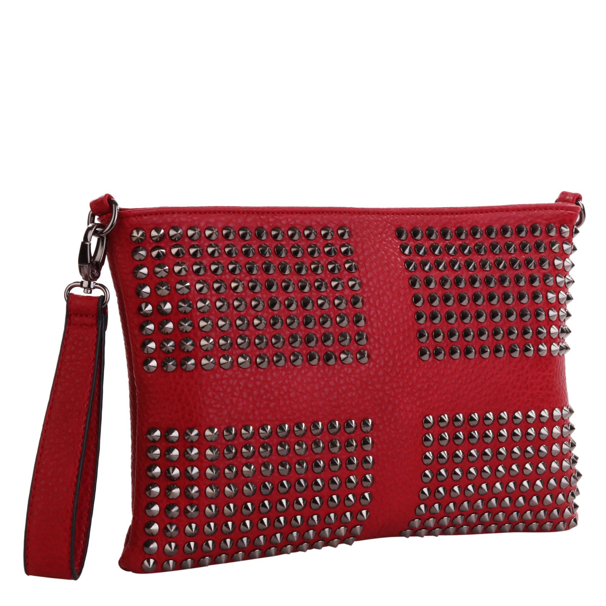 Сумка женская Pola, цвет: красный. 8273-018273-01Женская сумка Pola выполнена из экокожи. Основное отделение закрывается на молнию, внутри два открытых кармана и карман на молнии. Снаружи карман на молнии сзади сумки. В комплекте съемный плечевой ремень, регулируемый по длине, максимальная высота 58 см. Также есть съемная ручка для переноски на кисти. Цвет фурнитуры- черный.