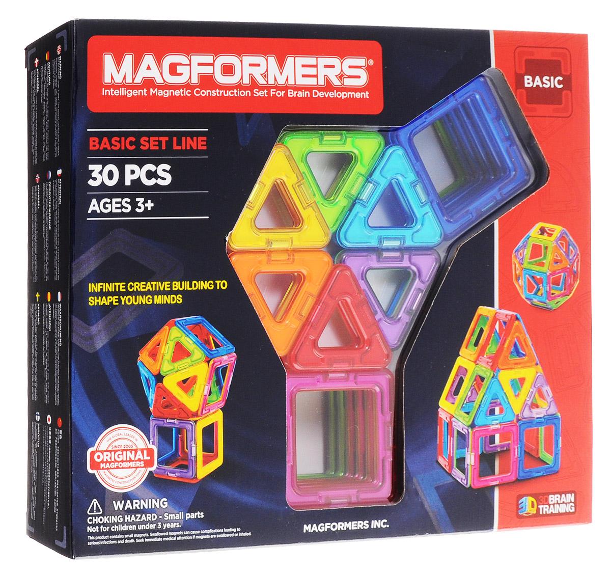 Magformers Магнитный конструктор Rainbow63076/701005Магнитный конструктор Magformers Rainbow не содержит мелких деталей, что делает его абсолютно безопасным. А в этом наборе вы найдёте все цвета радуги, как вы уже поняли из названия. Конструктор подходит детям с трех лет. В комплект входит 30 деталей - это квадраты и треугольники. Количество элементов позволяет собирать довольно сложные постройки - домики, небольшие замки, волшебный шар, очень любимый всеми детьми и ещё много всего. Мальчишки могут создать ракету или гараж, девчонкам будет интересно попробовать себя в качестве творца, например, кроватки для своей любимой куклы или необычной дизайнерской сумочки. Каждый может почувствовать себя модельером и придумать необычный головной убор, будь то смешная шапка, шлем или пионерская пилотка. Набор идеально для этого подойдет - все детали разноцветные и их количества абсолютно точно хватит для того, чтобы проявить фантазию. Все детали этого набора совместимы с другими наборами Magformers, что позволяет...