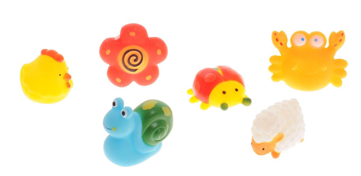 ABtoys Набор игрушек для ванной Веселое купание 6 шт PT-00351PT-00351С набором игрушек для ванной ABtoys Веселое купание принимать водные процедуры станет еще веселее и приятнее. В набор входят шесть игрушек - улитка, цыпленок, овечка, божья коровка, цветочек и краб. Игрушки могут брызгать водой и пищать. Набор доставит ребенку большое удовольствие и поможет преодолеть страх перед купанием. Игрушки для ванной способствуют развитию воображения, цветового восприятия, тактильных ощущений и мелкой моторики рук.
