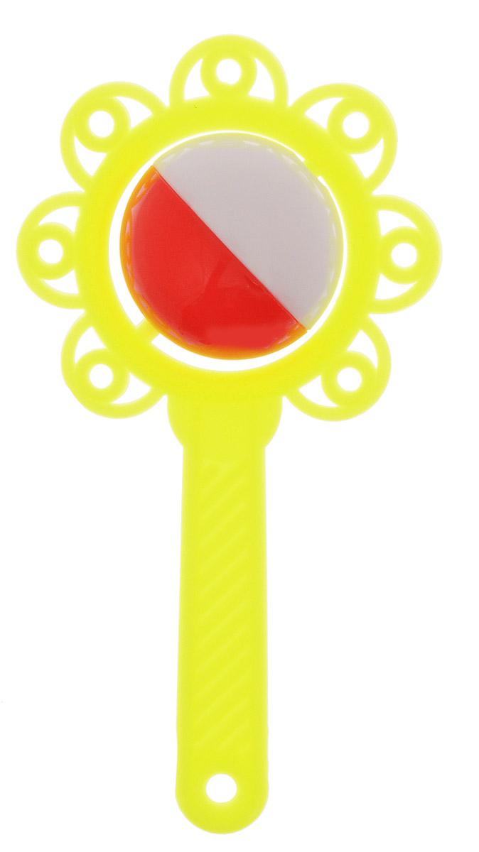 Аэлита Погремушка Цветок цвет желтый2С272_желтыйЯркая погремушка Аэлита Цветок не оставит вашего малыша равнодушным и не позволит ему скучать! Игрушка представляет собой желтый цветочек, внутри которого расположен небольшой красно-белый шарик, выполняющий роль погремушки. Удобная форма ручки погремушки позволит малышу с легкостью взять и держать ее. Яркие цвета игрушки направлены на развитие мыслительной деятельности, цветовосприятия, тактильных ощущений и мелкой моторики рук ребенка, а элемент погремушки способствует развитию слуха. Товар сертифицирован.