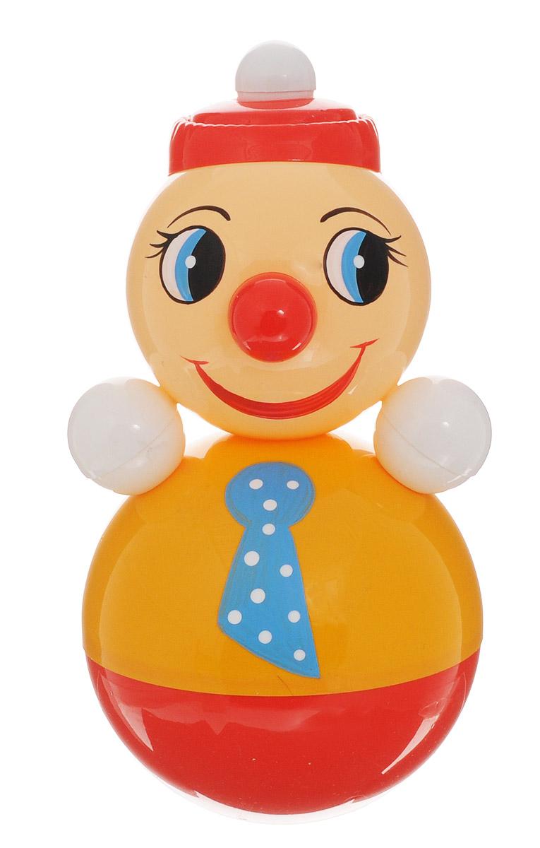 Завидов Неваляшка Клоун цвет желтый6С-003_желтыйНеваляшка Завидов Клоун - это развивающая игрушка для малыша. Неваляшка выполнена в виде клоуна. Клоун выглядит очень мило в своем ярком костюмчике с галстуком на шее и с ярко-красным носом. Неваляшка всегда возвращается в вертикальное положение, забавно покачиваясь под приятный звук бубенчиков и развлекая малыша. Игрушка изготовлена из качественных и безопасных материалов. Неваляшка развивает мелкую моторику, координацию, слух и цветовое восприятие. Беречь от удара.