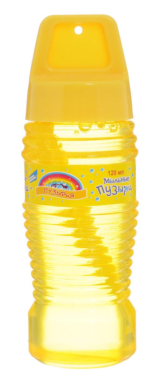 Dream Makers Мыльные пузыри Пузырия цвет желтый 120 мл218Т_желтыйМыльные пузыри Dream Makers Пузырия вызовут искренний восторг у вашего ребенка! Он сможет надуть великолепные пузыри разных размеров, которые будут переливаться всеми цветами радуги и парить в воздухе, радуя его. Пузырия - это флакон с мыльным раствором, а также палочка для создания мыльных пузырей. Игра с мыльными пузырями развивает у ребенка легкие и дыхательную систему, что особенно полезно для его здоровья. Порадуйте своего малыша такой веселой забавой!