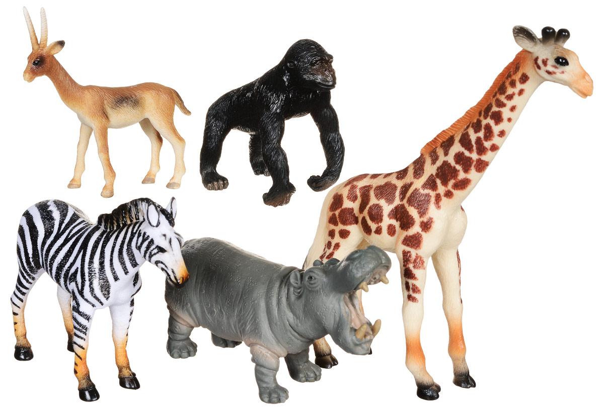 Wenno Набор фигурок Животные Африки 5 шт WAF06002WAF06002Набор фигурок Wenno Животные Африки познакомит вашего ребенка с окружающим миром. В набор входят пять фигурок - жираф, зебра и другие, которые имеют высокую степень сходства с настоящими животными. Фигурки выполнены с максимальной детализацией, чтобы дать ребенку представление о том, как выглядят животные в природе. Кроме того, фигурки можно использовать в качестве наглядного пособия при изучении животного мира. Фигурки изготовлены из качественного материала, не токсичны и не вызывают аллергию. В набор входят карточки. Вам необходимо скачать сканер QR кодов, выбрать язык (по умолчанию - английский). Просканируйте QR код на каждой карточке, приложение покажет информацию о разных животных.