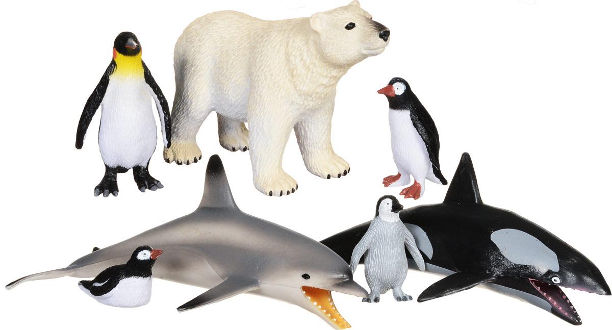 Wenno Набор фигурок Исчезающие виды 7 штWES06001Набор фигурок Wenno Исчезающие виды познакомит вашего ребенка с окружающим миром. В набор входят семь фигурок - пингвины, белый медведь, дельфин, касатка, которые имеют высокую степень сходства с настоящими животными и высокую детализацию, что позволяет использовать фигурки не только как игровые, но и как коллекционные. Кроме того, фигурки можно использовать в качестве наглядного пособия при изучении животного мира. Фигурки изготовлены из качественного материала, не токсичны и не вызывают аллергию. В набор входят карточки. Вам необходимо скачать сканер QR кодов, выбрать язык (по умолчанию - английский). Просканируйте QR код на каждой карточке, приложение покажет информацию о разных животных.