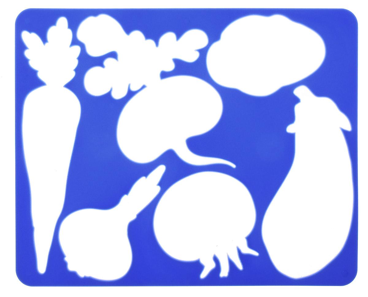 Луч Трафарет прорезной Овощи цвет синий