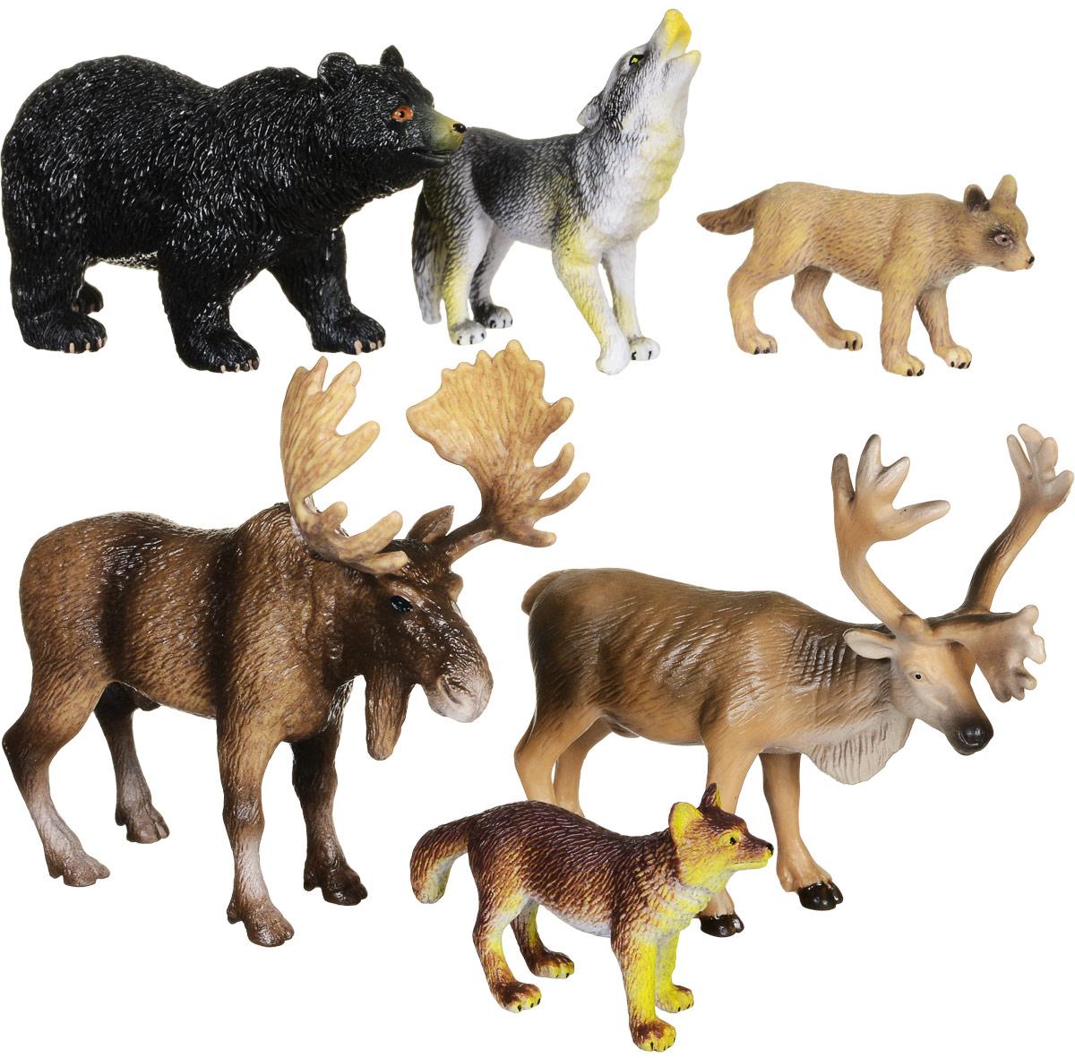 Wenno Набор фигурок Животные Северной Америки 6 штWNA06001Набор фигурок Wenno Животные Северной Америки познакомит вашего ребенка с окружающим миром. В набор входят шесть фигурок - лось, медведь, волк и другие, которые имеют высокую степень сходства с настоящими животными. Фигурки выполнены с максимальной детализацией, чтобы дать ребенку представление о том, как выглядят животные в природе. Совместные игры с фигурками Wenno - это познавательное времяпрепровождение для всей семьи. Фигурки изготовлены из качественного материала, не токсичны и не вызывают аллергию. В набор входят карточки. Вам необходимо скачать сканер QR кодов, выбрать язык (по умолчанию - английский). Просканируйте QR код на каждой карточке, приложение покажет информацию о разных животных.