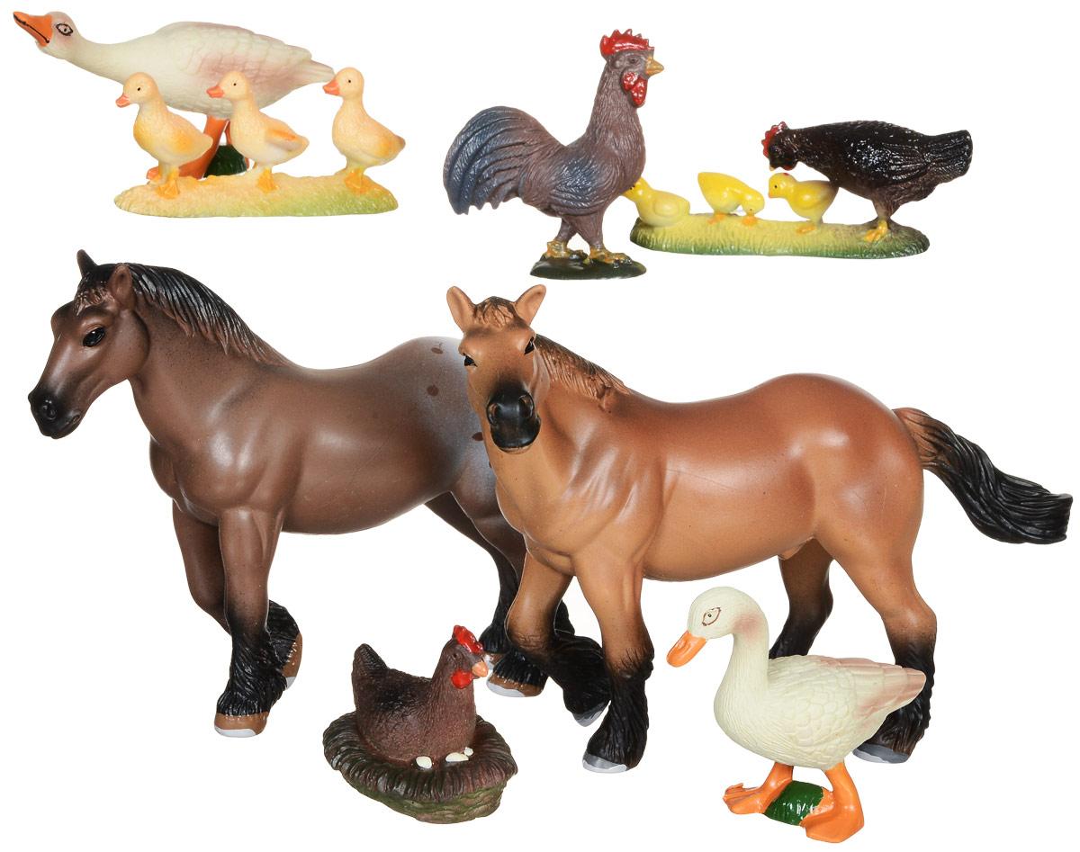 Wenno Набор фигурок Животные европейской фермы 8 штWEU06004Набор фигурок Wenno Животные европейской фермы познакомит вашего ребенка с окружающим миром. В набор входят восемь фигурок - лошади, курицы, гуси, которые имеют высокую степень сходства с настоящими животными. Фигурки выполнены с максимальной детализацией, чтобы дать ребенку представление о том, как выглядят животные в природе. Фигурки изготовлены из качественного материала, не токсичны и не вызывают аллергию. В набор входят карточки. Вам необходимо скачать сканер QR кодов, выбрать язык (по умолчанию - английский). Просканируйте QR код на каждой карточке, приложение покажет информацию о разных животных.