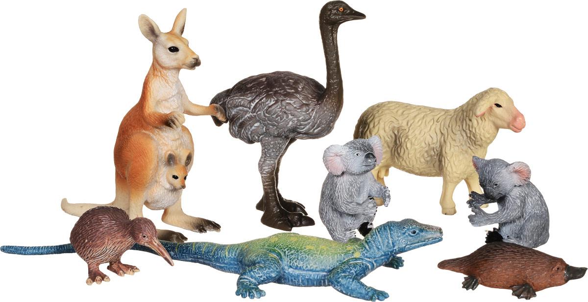 Wenno Набор фигурок Животные Австралии 8 штWAU06001Набор фигурок Wenno Животные Австралии познакомит вашего ребенка с окружающим миром. В набор входят восемь фигурок: кенгуру, 2 коалы, страус, утконос и другие, которые имеют высокую степень сходства с настоящими животными Австралии и высокую детализацию, что позволяет использовать фигурки не только как игровые, но и как коллекционные. Кроме того, фигурки можно использовать в качестве наглядного пособия при изучении животного мира. Фигурки изготовлены из качественного материала, не токсичны и не вызывают аллергию. В набор входят карточки. Вам необходимо скачать сканер QR кодов, выбрать язык (по умолчанию - английский). Просканируйте QR код на каждой карточке, приложение покажет информацию о разных животных.
